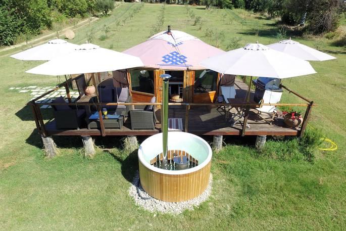 Jacuzzi bij Yurt - Leccio del Corno Yurt