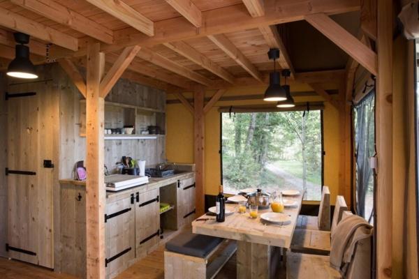Keuken safaritent - La Serre