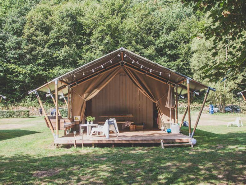 Safaritent op glamping Olympia