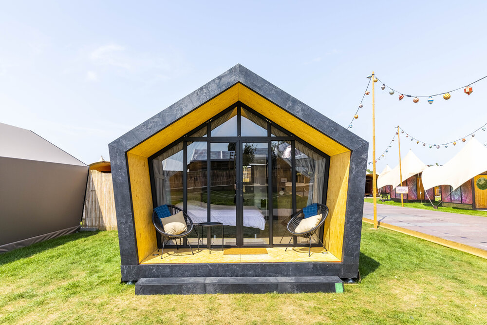 pop-up glamping Green Fields