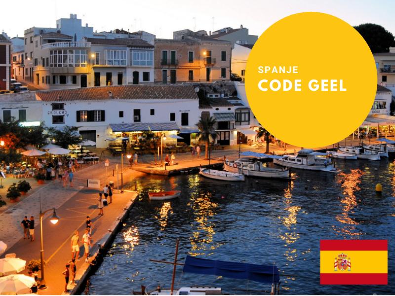Code geel maatregel Spanje